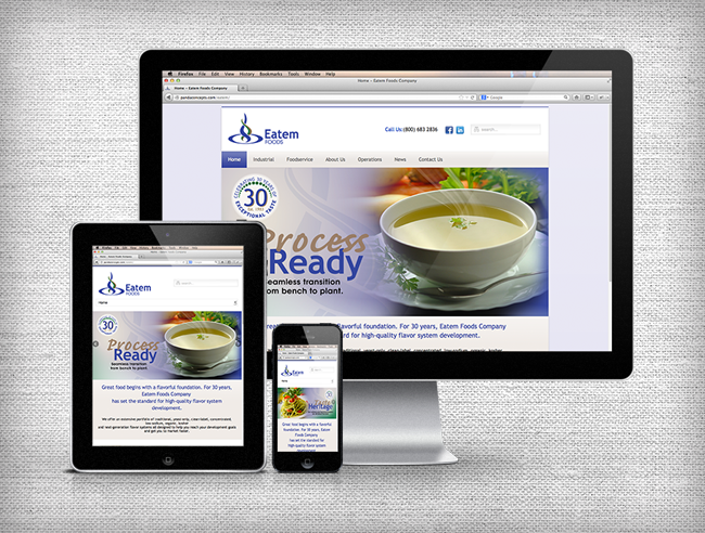 Eatem Foods Responsive Website Design