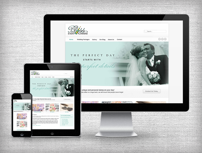 Bliss Event Planning Responsive Website Design