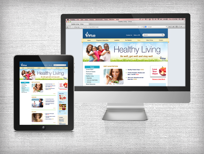 Virtua's Healthy Living Website Design